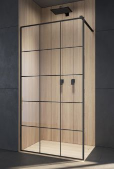 Modo New Black II Factory Walk-in fekete zuhanyfal - Walk-in zuhanykabin