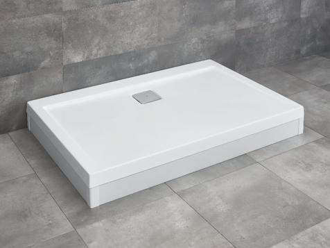 Argos D aszimmetrikus szögletes akril zuhanytálca