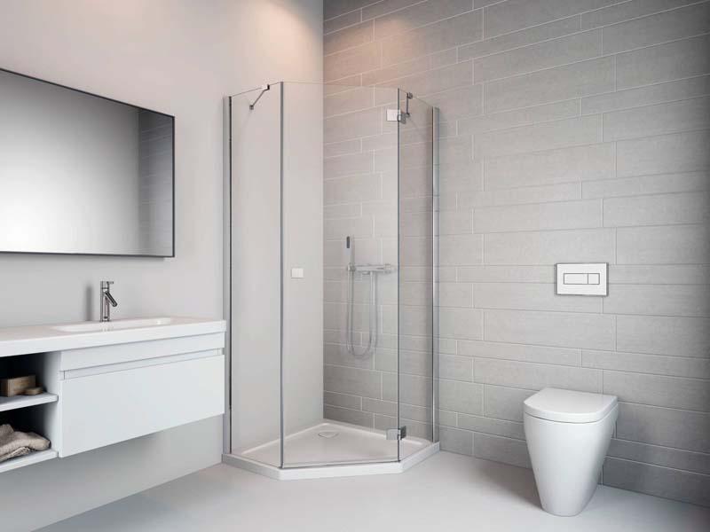 Radaway Essenza New PTJ ötszögletű zuhanykabin