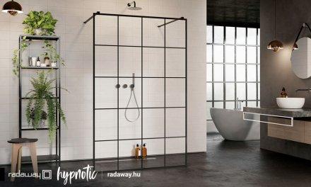 A zuhanykabinon túl: trendteremtő fekete walk-in zuhanyfalak és kádparavánok