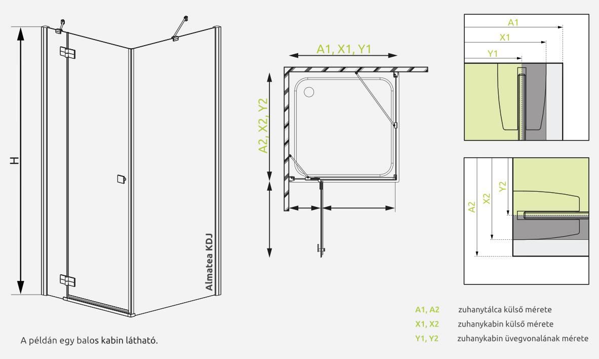 Almatea KDj beépítési rajz minta