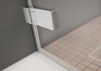 zuhanykabin épített zuhanytálcán