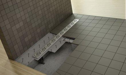Egyszerűen és gyorsan beépíthető zuhanyfolyókák óriási vízelnyelő képességgel