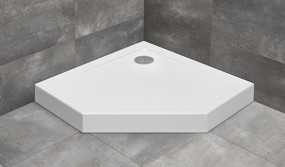 Radaway Doros PT compact szögletes akril zuhanytálca