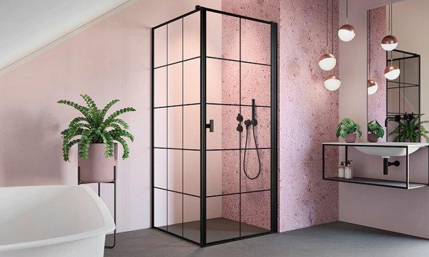 Radaway Hypnotic fekete zuhanykabinok, ami a fürdőszobai dizájnt is új szintre emeli