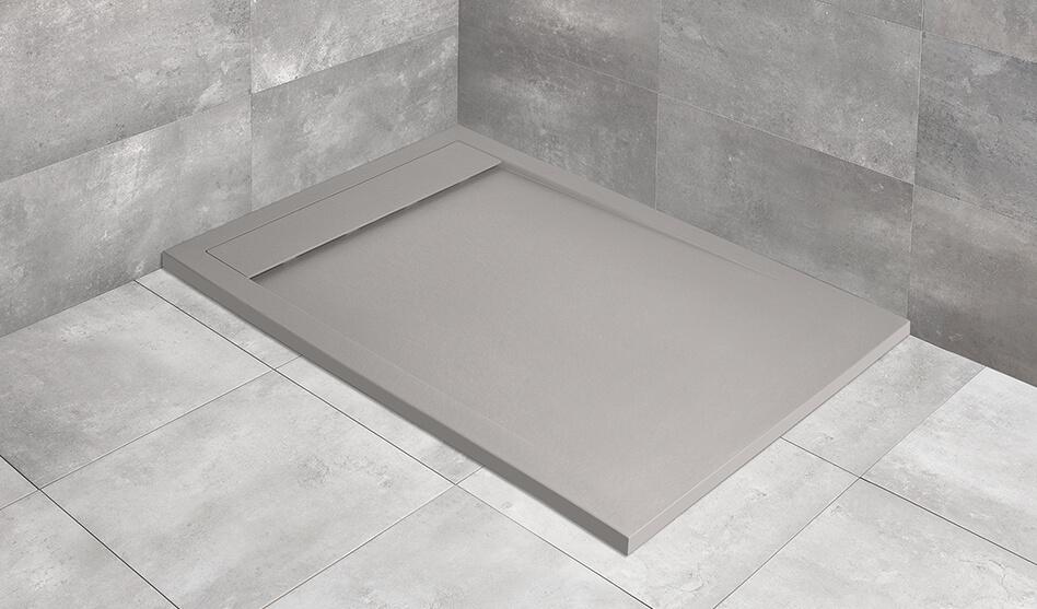 Radaway Teos F szögletes cemento műmárvány zuhanytálca