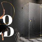 Színtiszta elegancia – Arany zuhanykabinok