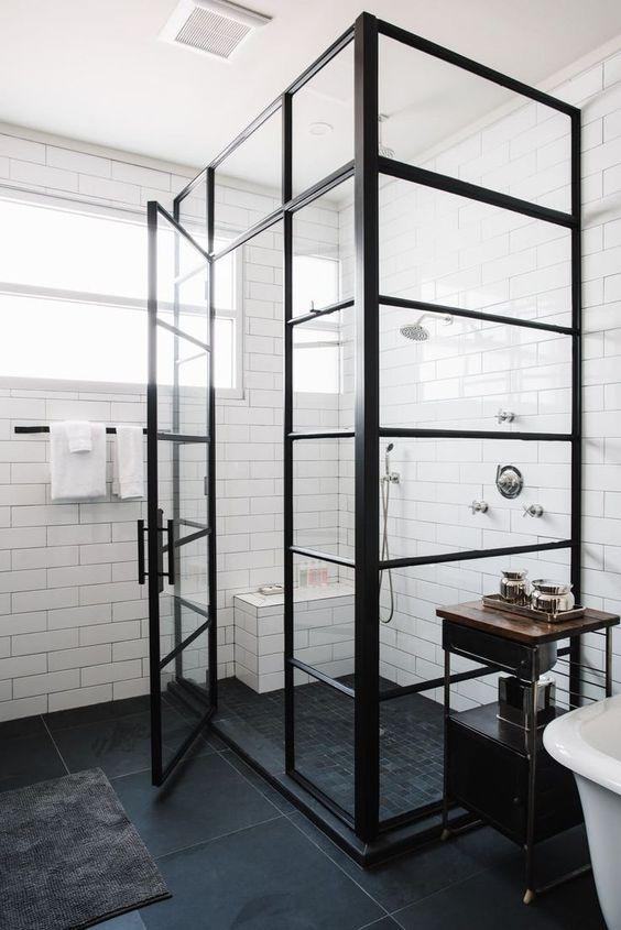Radaway Modo New Black III Factory fekete zuhanyfal