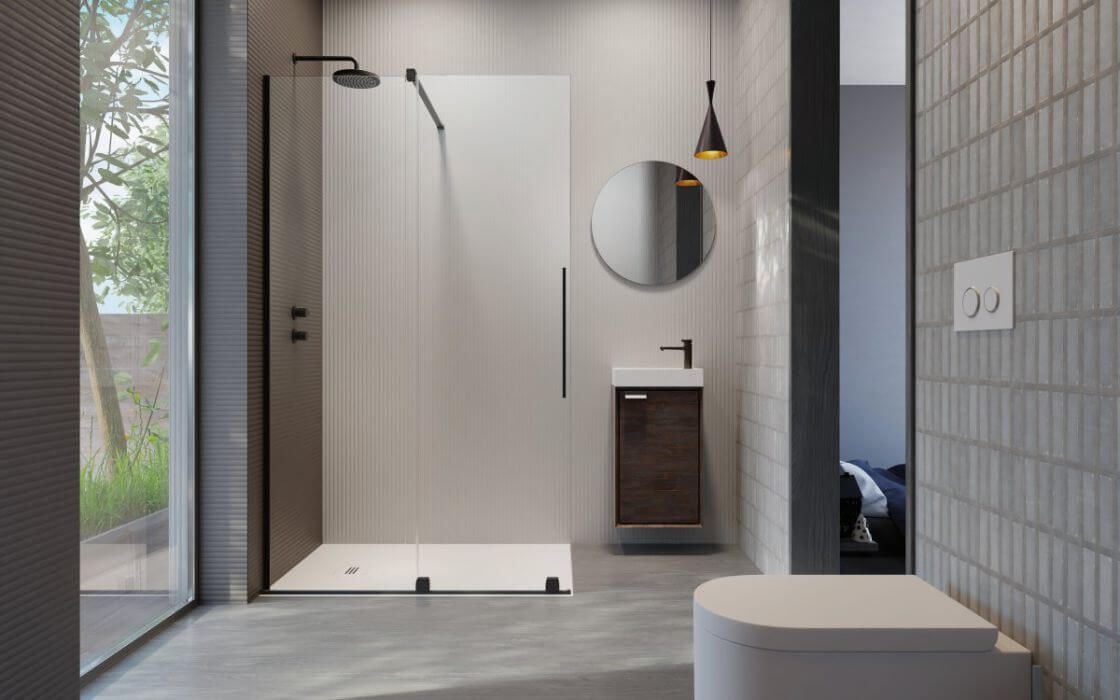 FURO-Black-walk-in-fekete-zuhanyfal