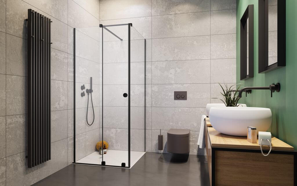 FURO Black_KDJRH fekete zuhanykabin