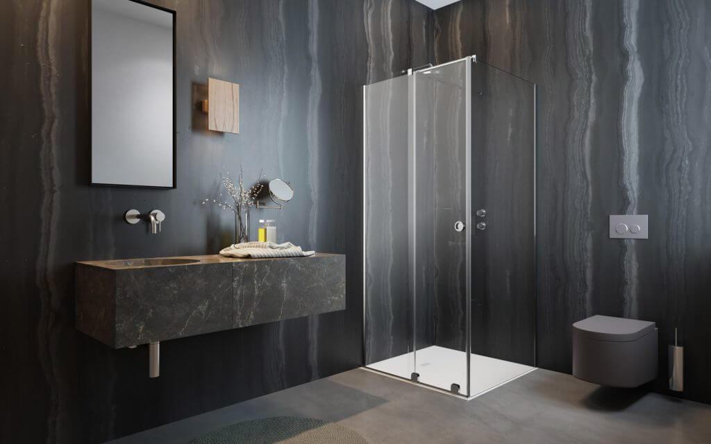 Furo-KDJ-RH - szögletes zuhanykabin kerek fogantyúval