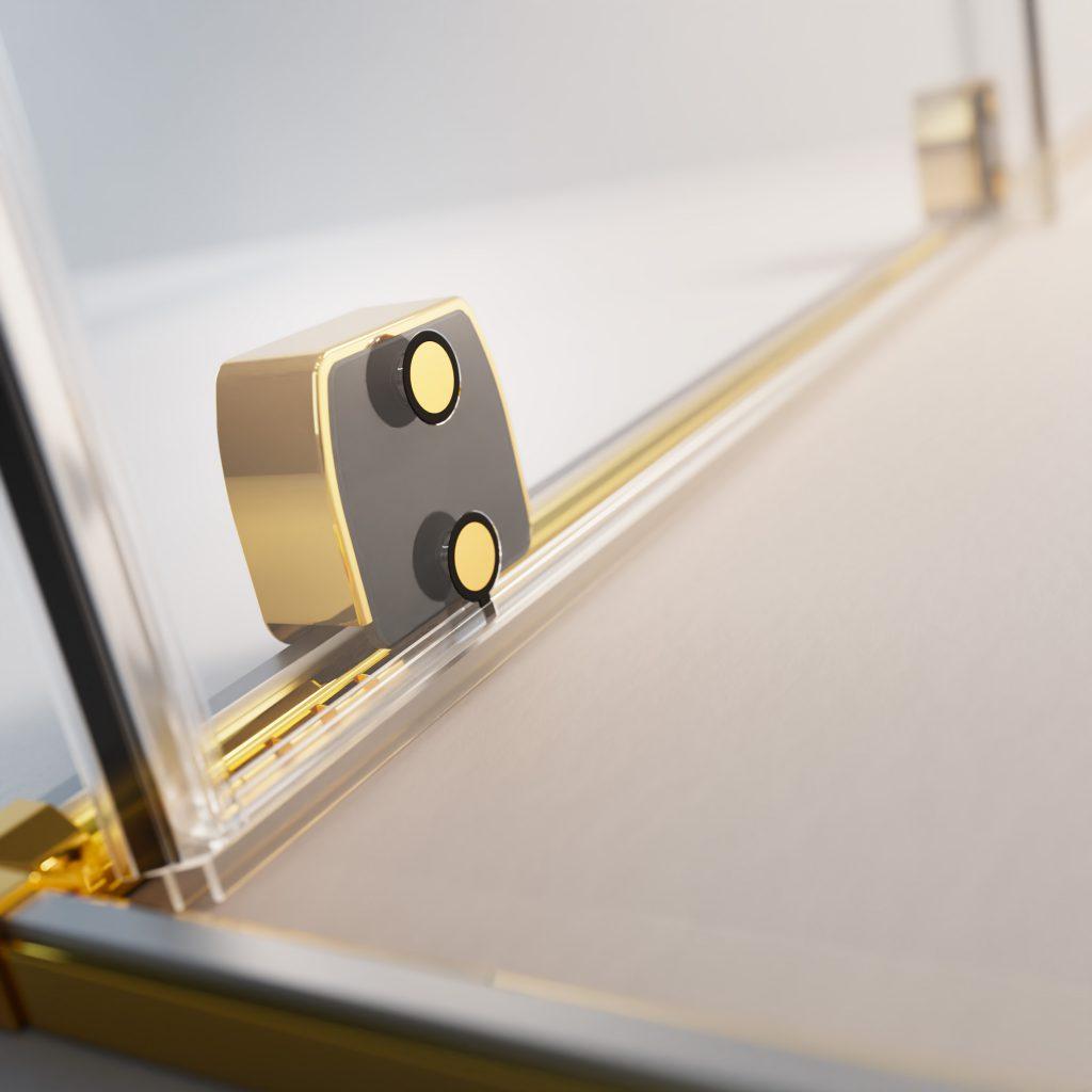 FURO Gold arany zuhanykabin görgő rendszer belső
