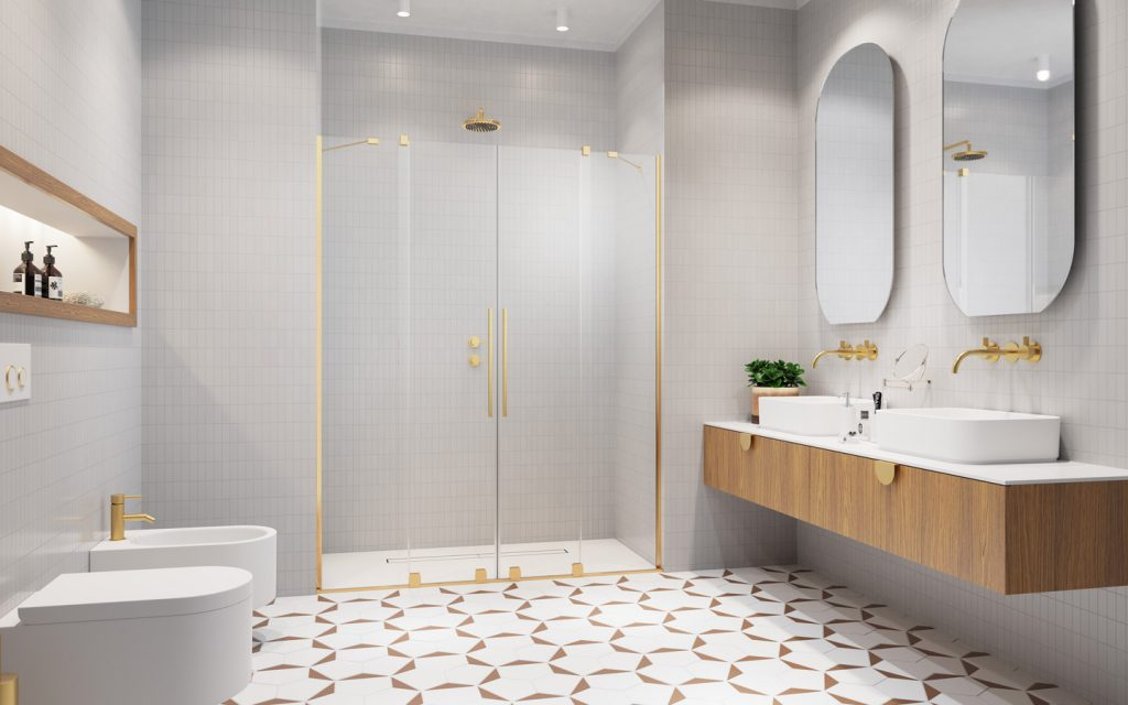 FURO Gold arany zuhanykabin profil