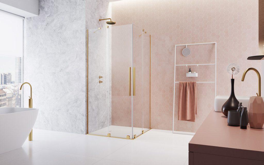 Furo Gold KDD arany szögletes zuhanykabin