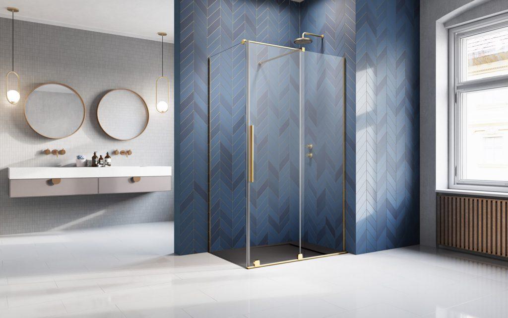 Furo Gold KDJ arany szögletes zuhanykabin
