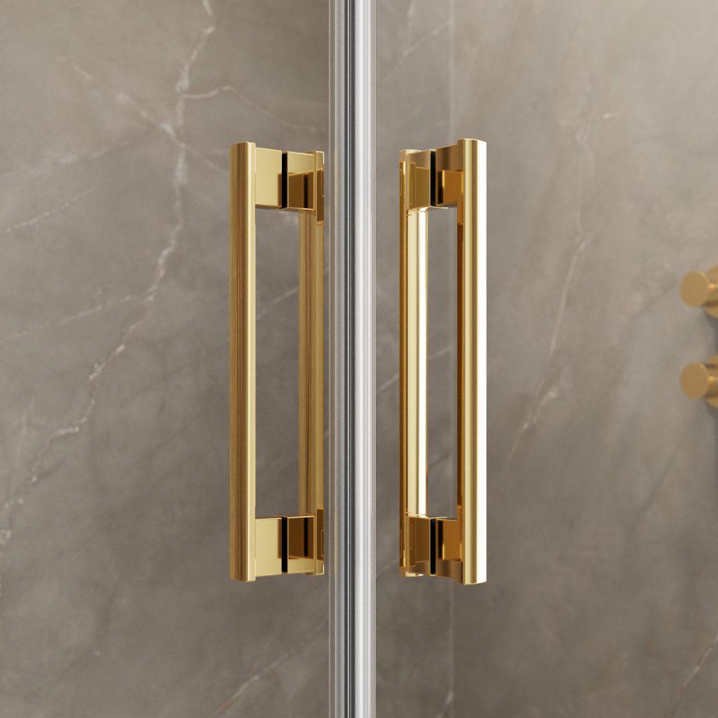 IDEA Gold arany zuhanykabin elegáns fogantyú