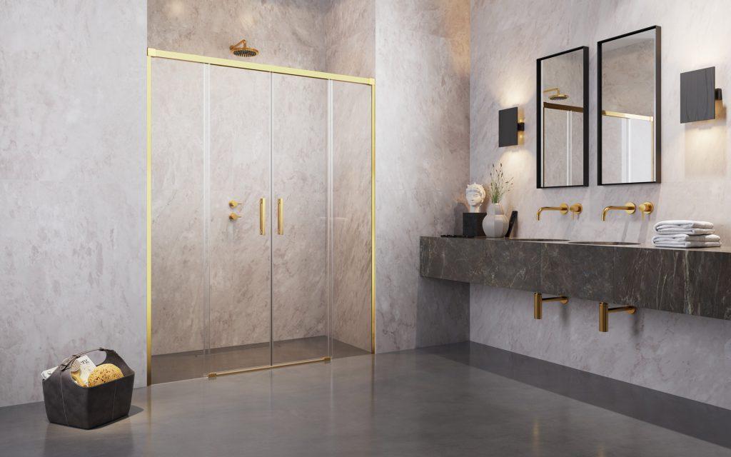 Radaway Idea Gold DWD arany zuhanyajtó