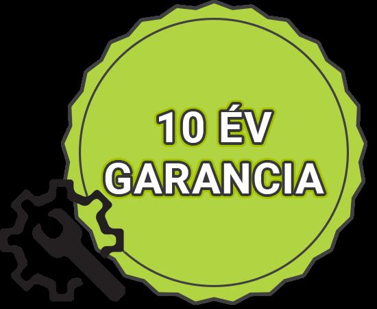 10 év alkatrész garancia