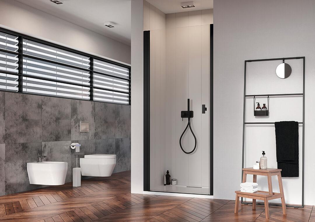 Nes Black DWJ I fekete zuhanyajtó