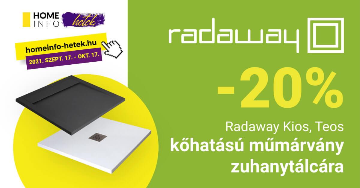 Radaway kios, teos zuhanytálca akció homeinfo