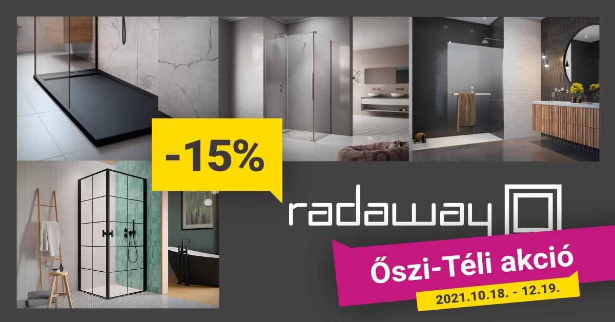 15% kiemelt Radaway termékekre